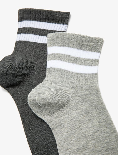 Koton 2'li Erkek Çorap Gri